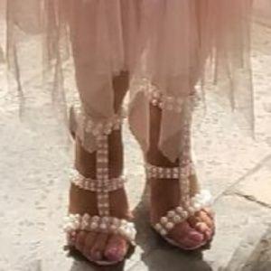 Peachy 🍑 Pearl Heels